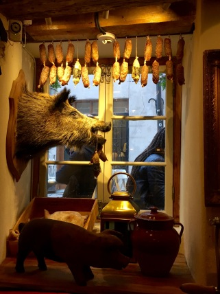Window of Hairy Pig Deli