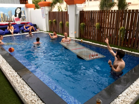 Poolside at Mad Monkey, Phnom Penh